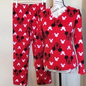 Disney Mickey velour sleep set in Small